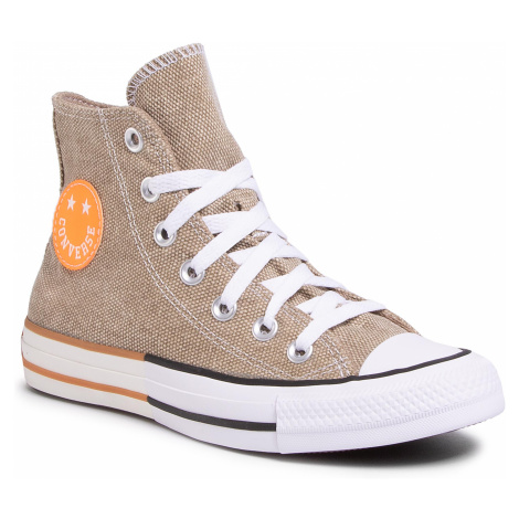 Trampki CONVERSE - Ctas Hi 167658C Khaki/Total Orange/White