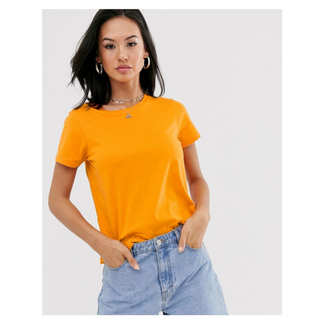 ASOS DESIGN organic cotton t-shirt with crew neck in orange