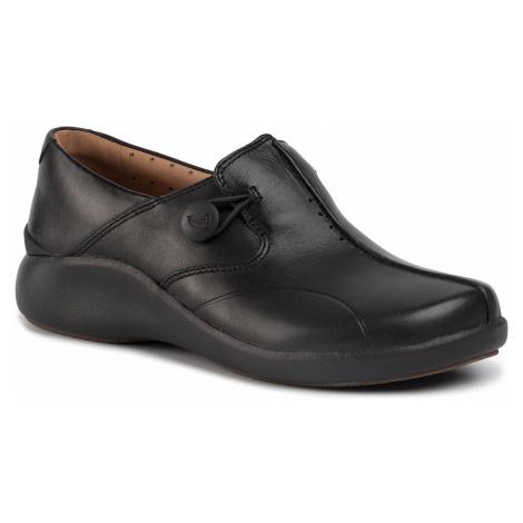 Półbuty CLARKS - Un. Loop2 Walk 261447574 Black Leather