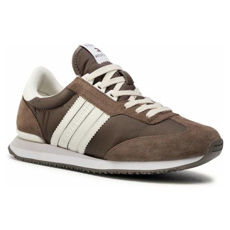 Sneakersy TOMMY HILFIGER - Low Mix Runner Stripes FM0FM02845 Ridgewood GWM