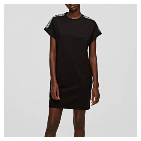 Sukienka Karl Lagerfeld Mercerized Jersey Dress W/Logo 205W1352 999
