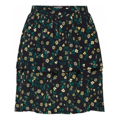Minimum Spódnica 'Laylo' żółty / ciemnozielony / czarny