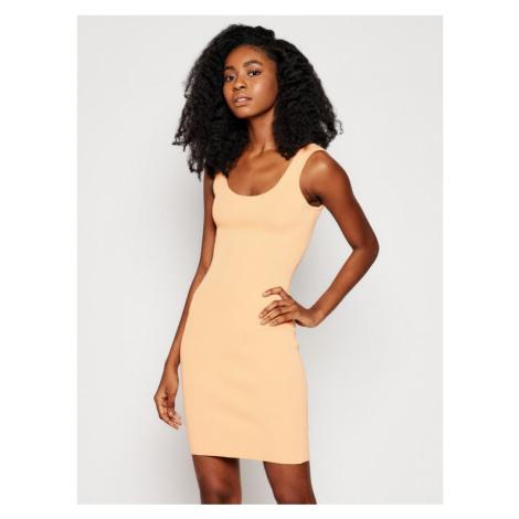 Guess Sukienka codzienna W1GK85 Z2U00 Pomarańczowy Slim Fit