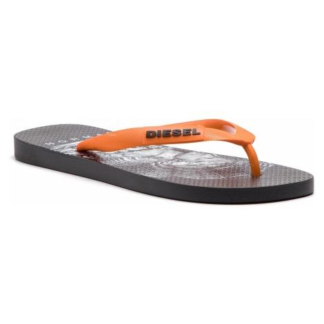 Japonki DIESEL - Sa-Briian Y01938 P2119 H7048 Black/Sun Orange