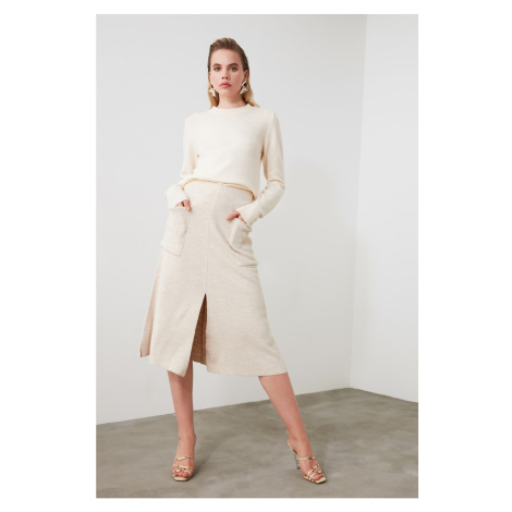 Trendyol Beige Pocket Knitwear Skirt