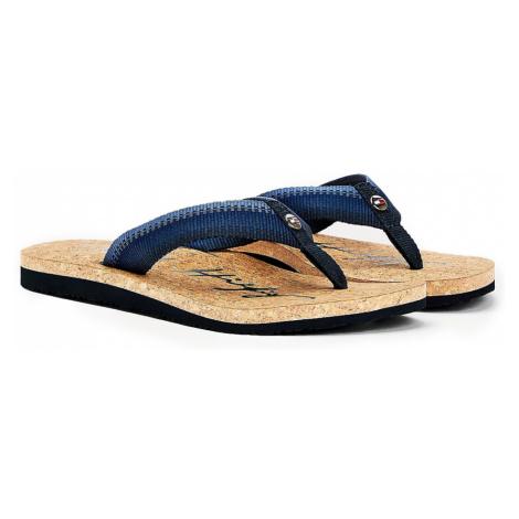 Tommy Hilfiger niebieski japonki Gradient Tommy Beach Sandal