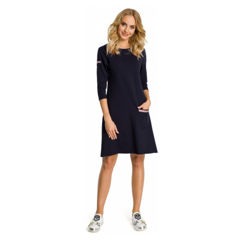 Made Of Emotion Woman's Dress M343 Navy Blue