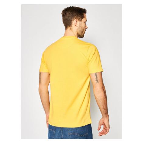 PROSTO. T-Shirt KLASYK Discon 8622 Żółty Regular Fit