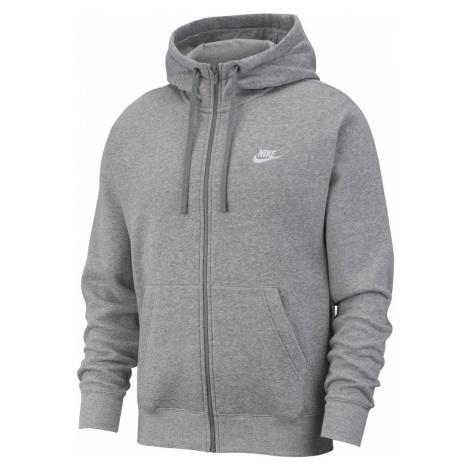 Nike NSW Club Hoodie FZ Męska Szara (BV2645-063)