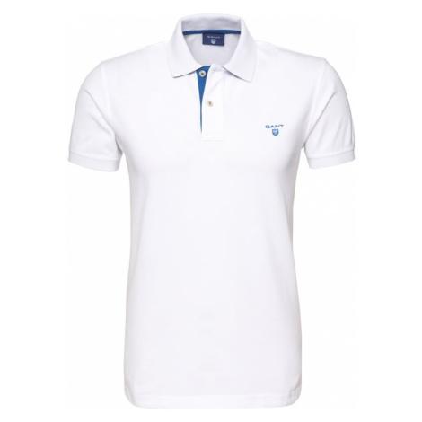 GANT Koszulka 'Rugger' niebieski / biały