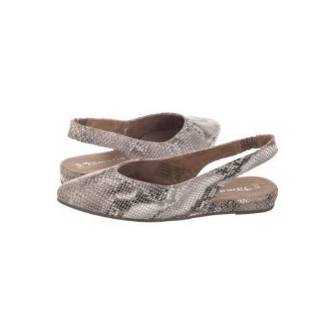 Baleriny Beżowe 1-29406-24 902 Snake (TM241-b) Tamaris
