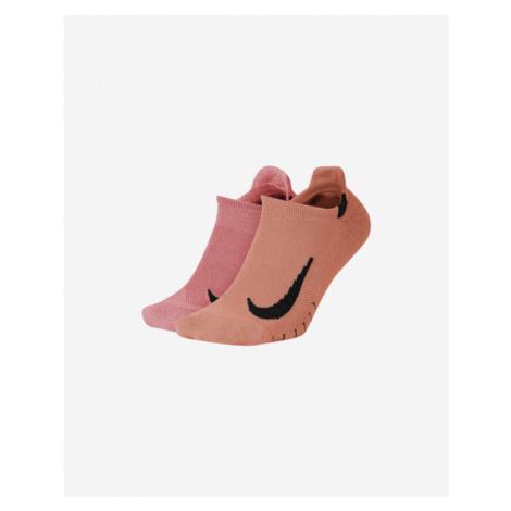 Nike Multiplier No Show Skarpetki Różowy Pomarańczowy