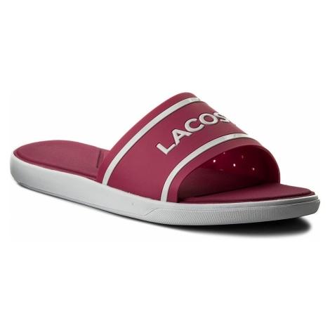 Klapki LACOSTE - L.30 Slide 118 2 Caw 7-35CAW0021FP6 Pink/White