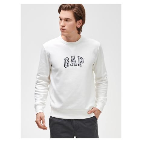 GAP biała bluza męska Logo crewneck sweatshirt