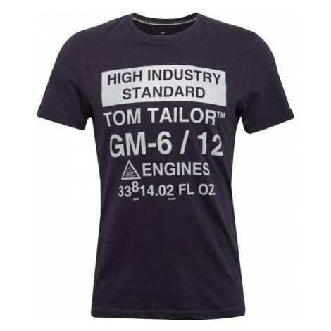 TOM TAILOR Koszulka granatowy / biały