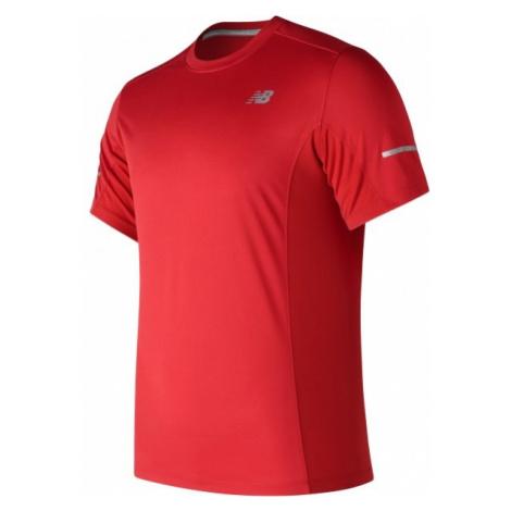 New Balance MT73916REP czerwony S - Koszulka sportowa męska