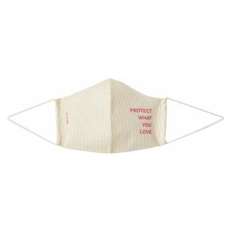 PHYNE Maska z materiału 'Protect what you love' biały / żółty