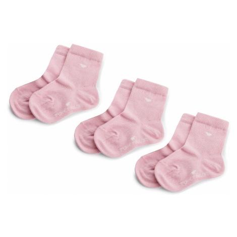Zestaw 3 par wysokich skarpet dziecięcych TOM TAILOR - 9203Y Lilac Rose 048