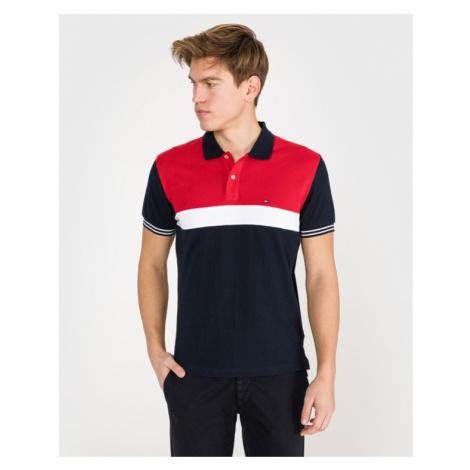 Tommy Hilfiger Polo Koszulka Niebieski Czerwony