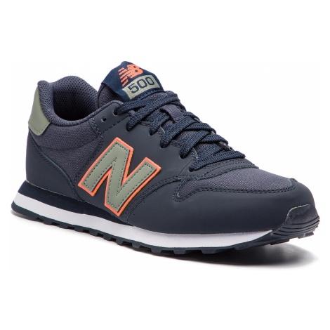 Sneakersy NEW BALANCE - GM500COM Granatowy