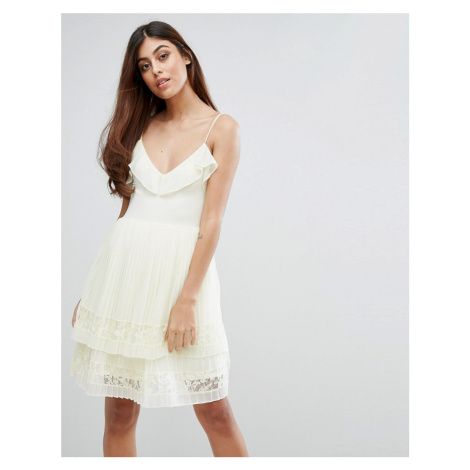 French Connection Adanna Pleat Lace Jersey Dress