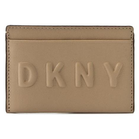 Etui na karty kredytowe DKNY - Slgs Debossed Logo R172440101 Nude 277