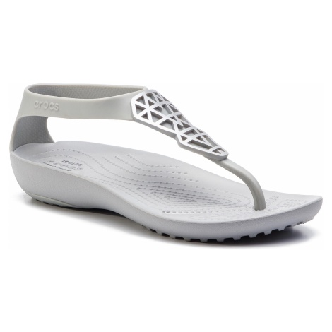 Sandały CROCS - Serena Embellish Flip W 205600 Silver/Silver