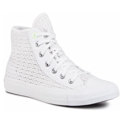 Sneakersy CONVERSE - Ctas Hi 567654C White/Barely Volt/White
