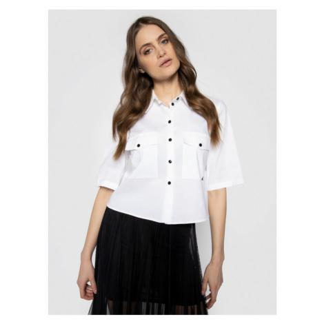 Patrizia Pepe Koszula 8C0332/A23-W103 Biały Oversize