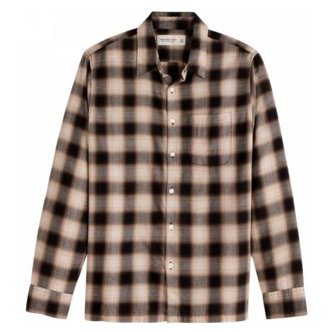 Abercrombie & Fitch Koszula czarny / kremowy