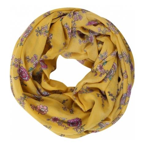 ESPRIT Szalik komin 'RCS_FlowerInfin' żółty