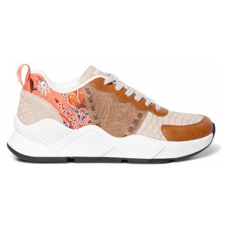 Desigual beżowy trampki na platformie Shoes Hydra Patch