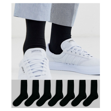 ASOS DESIGN 7 pack ankle sock in black save