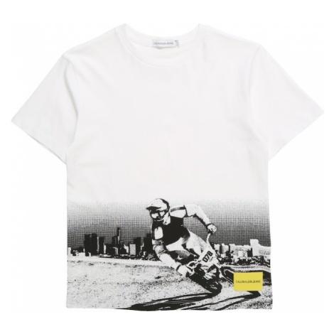 Calvin Klein Jeans Koszulka 'BMX PHOTOPRINT' żółty / czarny / biały