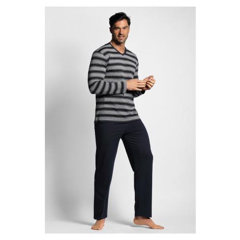 Ciemnoniebieska piżama w paski
