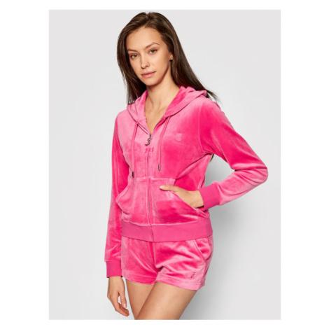 Juicy Couture Bluza Robertson JCAP176 Różowy Slim Fit