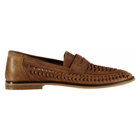 Firetrap Marrone Woven Mens Loafers