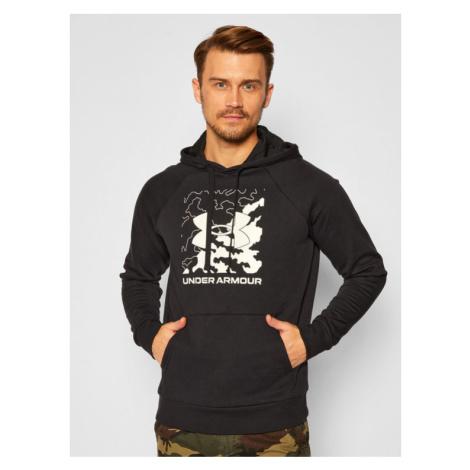 Under Armour Bluza Ua Rival Fleece Box Logo 1357095 Granatowy Loose Fit