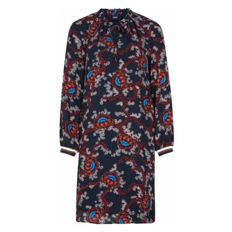 S.Oliver BLACK LABEL Sukienka 'Tea' goryczka / brązowy / mieszane kolory / biały