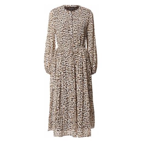 Banana Republic Sukienka koszulowa brązowy / biały / czarny