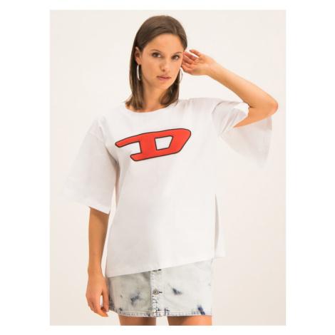 Diesel T-Shirt T-Jacky-I 00SWN40CATJ Biały Regular Fit