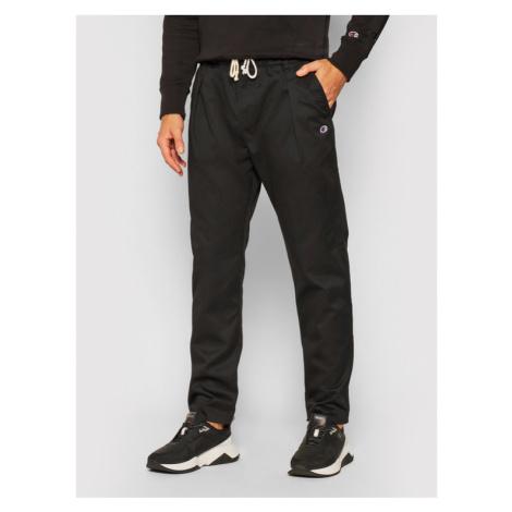 Champion Spodnie materiałowe Tapered Woven 215331 Czarny Custom Fit