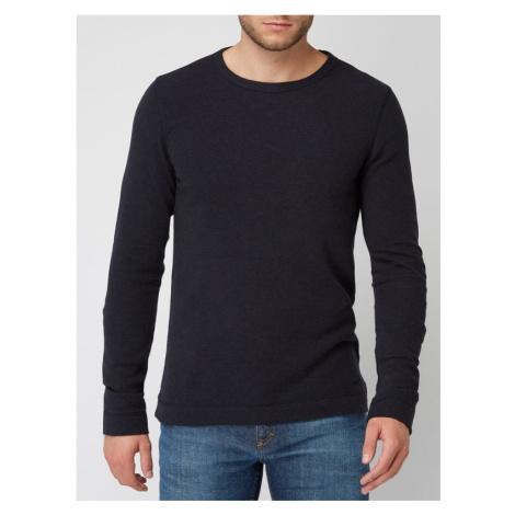 Sweter o fakturze wafla model 'Tempest'