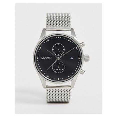 MVMT Voyager mesh watch in silver