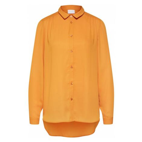 VILA Bluzka złoty żółty