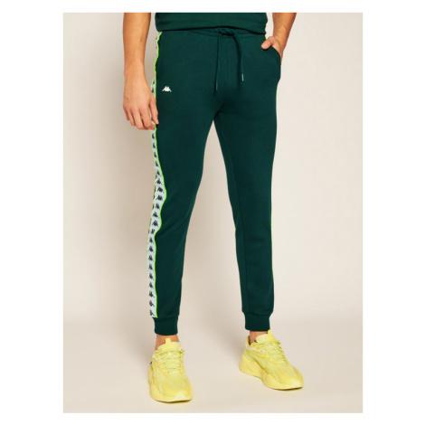 Kappa Spodnie dresowe Henner 308021 Zielony Regular Fit