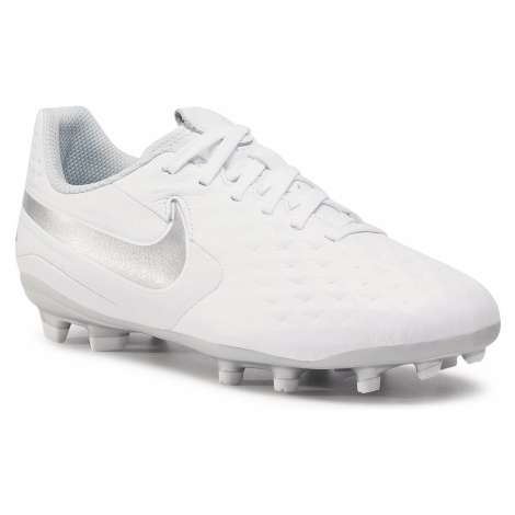 Buty NIKE - Jr Legend 8 Academy Fg/Mg AT5732 100 White/Chrome/Pure Platinum