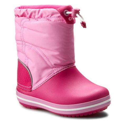 Crocs Śniegowce Crocband Lodgepoint Boot K 203509 Różowy