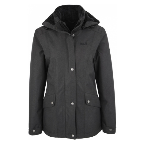 JACK WOLFSKIN Kurtka outdoor 'PARK AVENUE' antracytowy