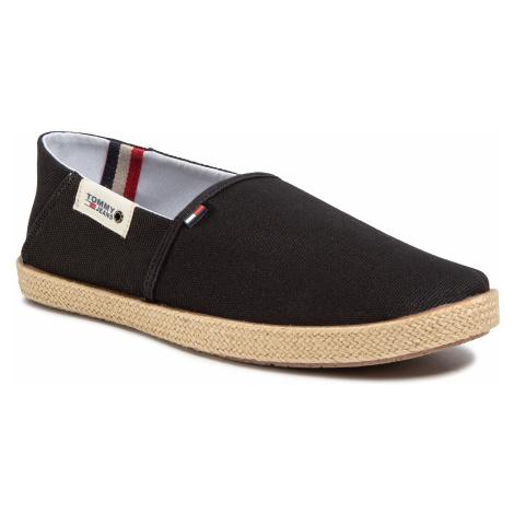 Espadryle TOMMY JEANS - Summer Shoe EM0EM00423 Black BDS Tommy Hilfiger